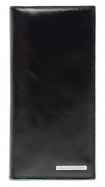 Портмоне Piquadro Blue Square черный, кожа натуральная (AS341B2/N)