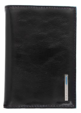 Обложка для документов Piquadro Blue Square черный, кожа натуральная (AS379B2/N)