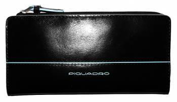 Портмоне Piquadro Blue Square AS458B2 / N черный натур.кожа