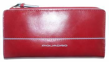 Портмоне Piquadro Blue Square красный, кожа натуральная (AS458B2/R)