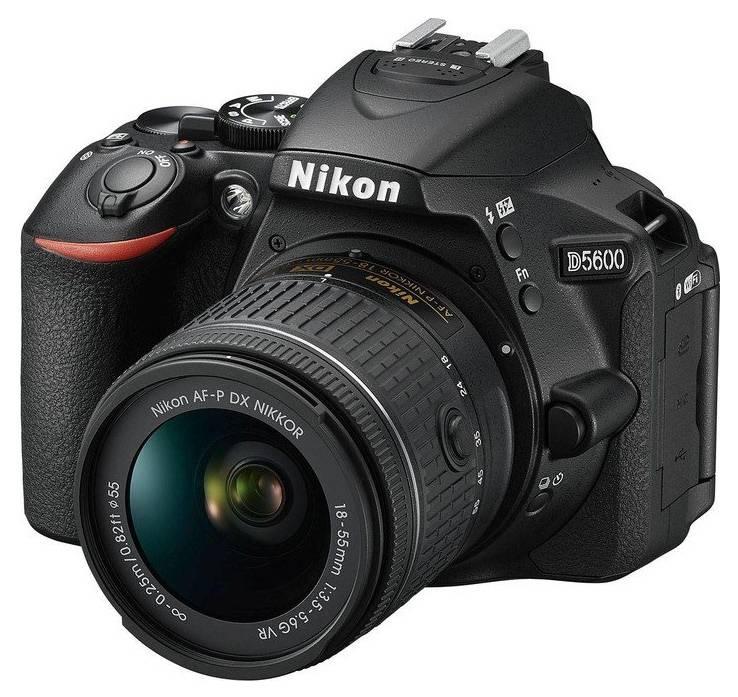 Фотоаппарат Nikon D5600 черный, 1 объектив (VBA500K001) - фото 1