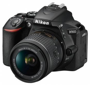 Фотоаппарат Nikon D5600 черный, 1 объектив 18-55 VR AF-P f/3.5-5.6G (VBA500K001)