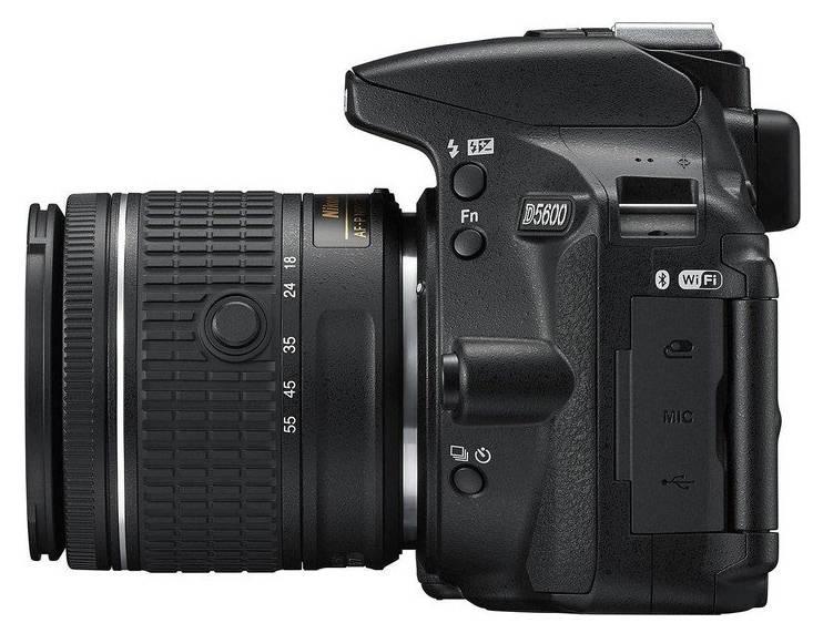 Фотоаппарат Nikon D5600 черный, 1 объектив (VBA500K001) - фото 4