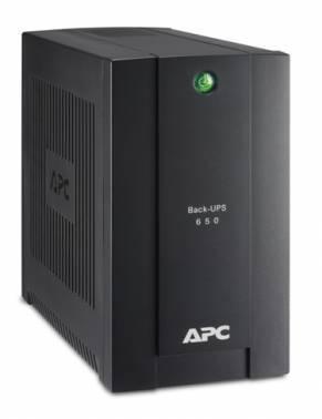 Источник бесперебойного питания APC Back-UPS BC650I-RSX back черный, мощность 650ВА, 360Вт, IEC320 4шт
