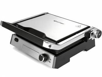 Электрогриль Kitfort KT-1602 серебристый/черный