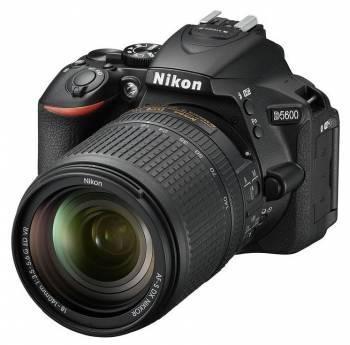 Фотоаппарат Nikon D5600 черный, 1 объектив (VBA500K002)