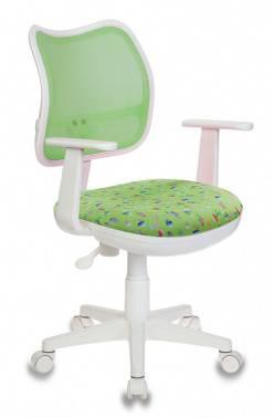 Кресло детское Бюрократ CH-W797/SD/CACTUS-GN спинка сетка, цвет обивки: зеленый кактусы Cactus-Gn (пластик белый)