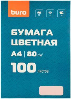Бумага Buro BURO-100Р A4 80г/м2 100л. розовый пастель