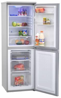 Холодильник Nord DR 180S серебристый, двухкамерный, размораживание холодильной камеры: капельное, размораживание морозильной камеры: ручное