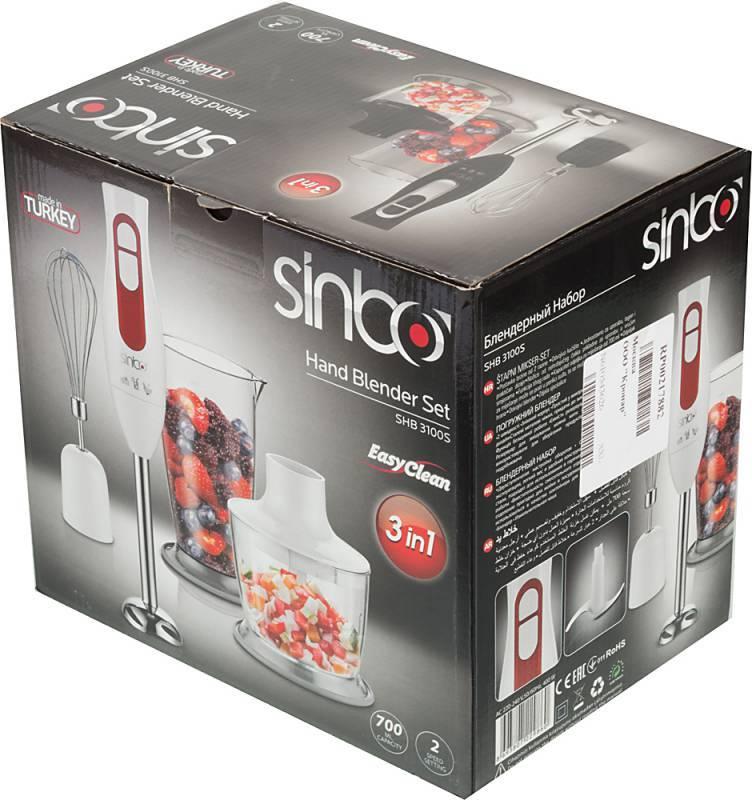 Блендер погружной Sinbo SHB 3100S белый - фото 7