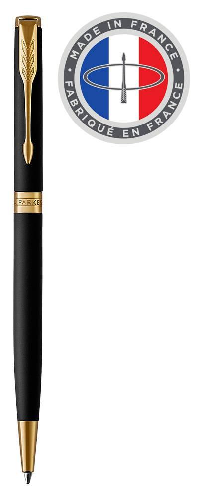 Ручка шариковая Parker Sonnet Core K428 Slim Matte Black GT (1931520) - фото 1