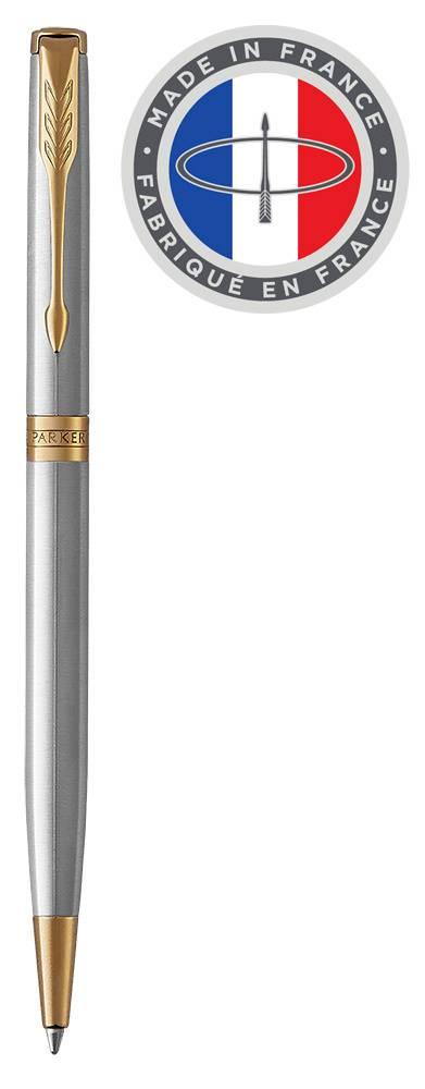 Ручка шариковая Parker Sonnet Core K427 Slim Stainless Steel GT (1931508) - фото 1