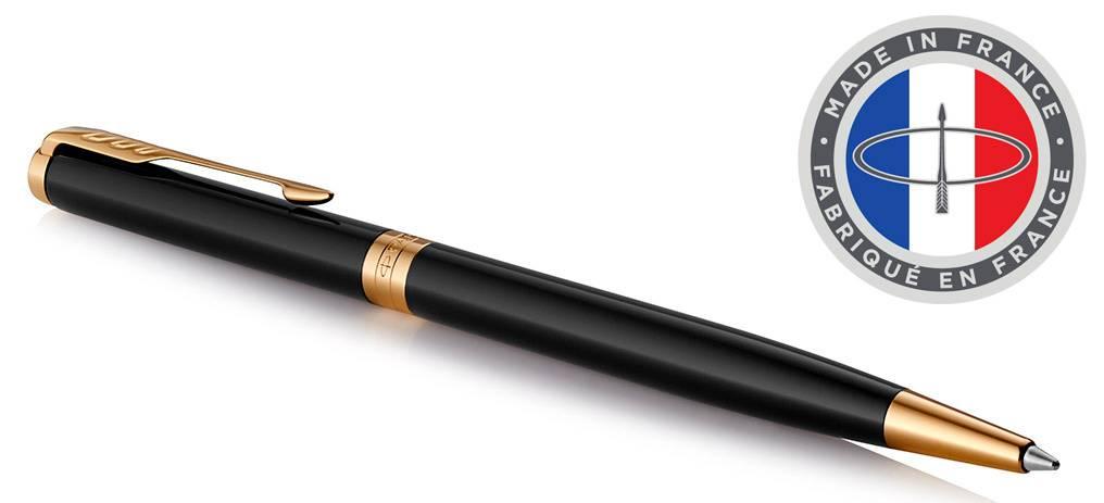Ручка шариковая Parker Sonnet Core K430 Slim LaqBlack GT (1931498) - фото 1