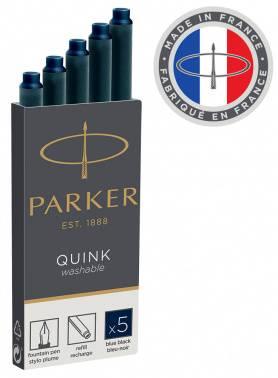 Картридж Parker Quink Ink Z11 черный/синие чернила (5шт) (1950385)