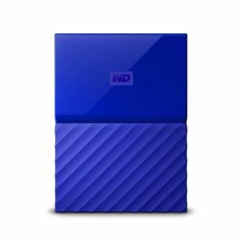 Внешний жесткий диск 4Tb WD WDBUAX0040BBL-EEUE My Passport синий USB 3.0