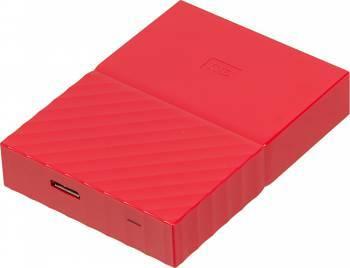 Внешний жесткий диск 4Tb WD WDBUAX0040BRD-EEUE My Passport красный USB 3.0