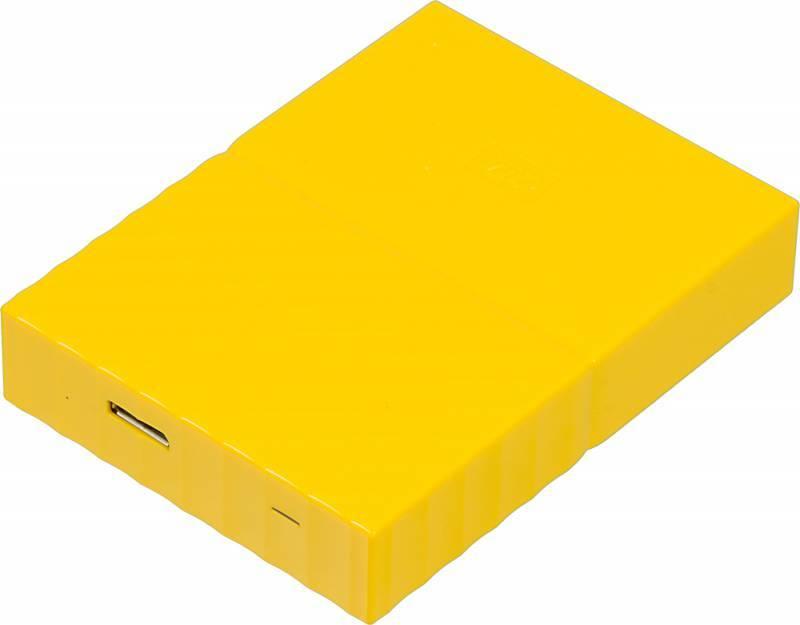 Внешний жесткий диск 4Tb WD My Passport WDBUAX0040BYL-EEUE желтый USB 3.0 - фото 1