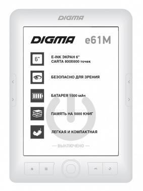 Электронная книга 6 Digma E61M белый