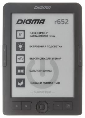 Электронная книга 6 Digma R652 серый