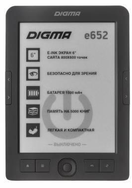 Электронная книга 6 Digma E652 серый