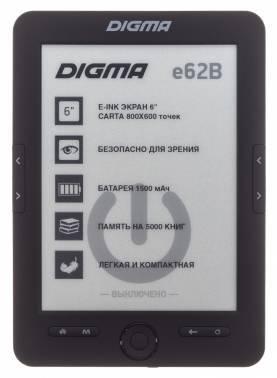 Электронная книга 6 Digma E62B черный