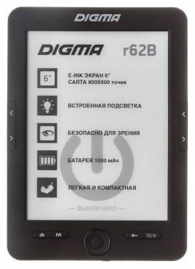 Электронная книга 6 Digma R62B черный