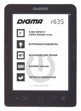 "Электронная книга 6"" Digma R63S темно-серый"