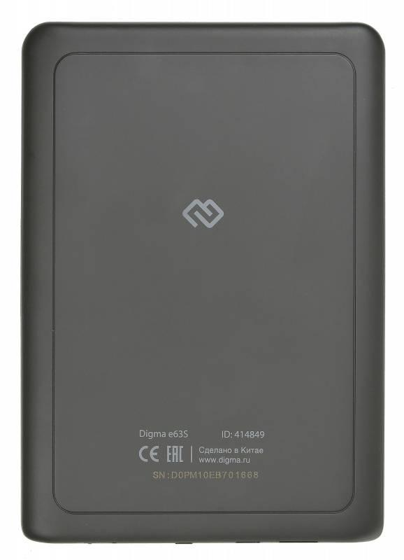 "Электронная книга 6"" Digma E63S темно-серый - фото 2"