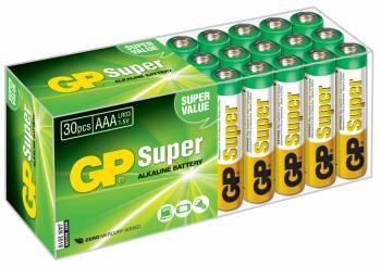 Батарея AAA GP Super Alkaline 24A LR03, в комплекте 30шт. (GP 24A-B30)