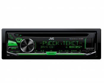 Автомагнитола JVC KD-R487, типоразмер 1DIN, максимальная мощность 4x50Вт, поддержка CD, фронтальный USB-порт, монохромный дисплей