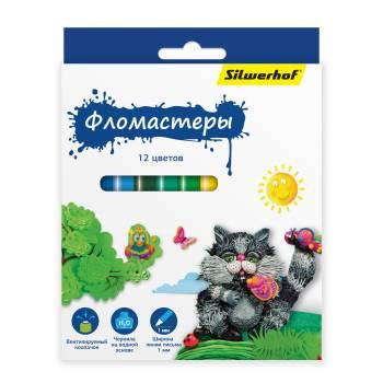Фломастеры Silwerhof 867199-12 12цв.