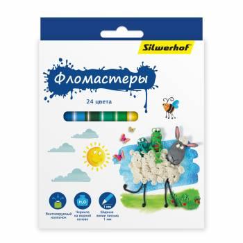 Фломастеры Silwerhof 867199-24 24цв.
