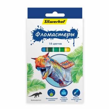 Фломастеры Silwerhof 867201-18 18цв.