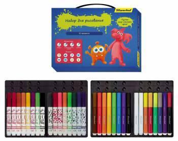 Набор для рисования 867214 ДЖИНСОВАЯ КОЛЛЕКЦИЯ, 32 предмета, картонная коробка с ручкой