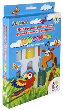 Набор для творчества 899098 рисование флисовыми красками, HOBBY. АФРИКА, 8цв.х22мл / 1 картина