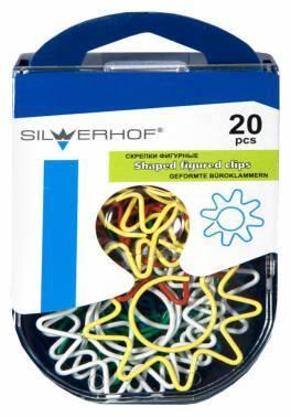Скрепки Silwerhof 493005 ассорти
