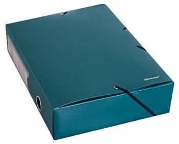 Папка архивная на резинке Silwerhof Perlen 311975-75 зеленый металлик