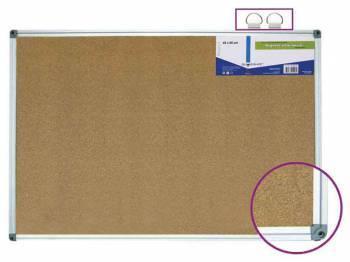 Доска офисная 654005-02 пробковая, 60х90см, 1 секция, 1 рабочая поверхность, алюминиевая рамка, карт