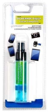 Чистящий набор для мобильных устройств, SILWERHOF DIGITAL CLEAN COMPLETE, гель 30мл+сафетки из микро