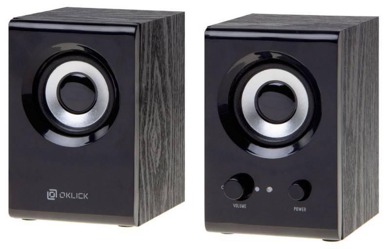 Колонки Oklick OK-160 черный (D3) - фото 1
