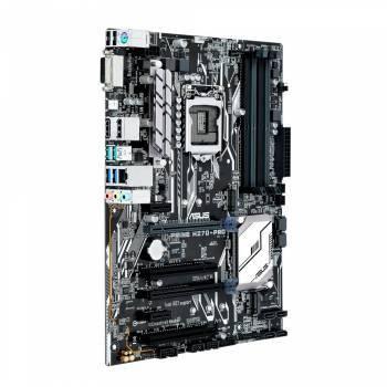 Материнская плата Asus PRIME H270-PRO, гнездо процессора LGA 1151, чипсет Intel H270, память 4xDDR4, форм-фактор ATX, звук AC`97 8ch(7.1), RAID, разъемы GbLAN+VGA+DVI+HDMI