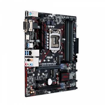 Материнская плата Asus PRIME B250M-PLUS, гнездо процессора LGA 1151, чипсет Intel B250, память 4xDDR4, форм-фактор mATX, звук AC`97 8ch(7.1), разъемы GbLAN+VGA+DVI+HDMI
