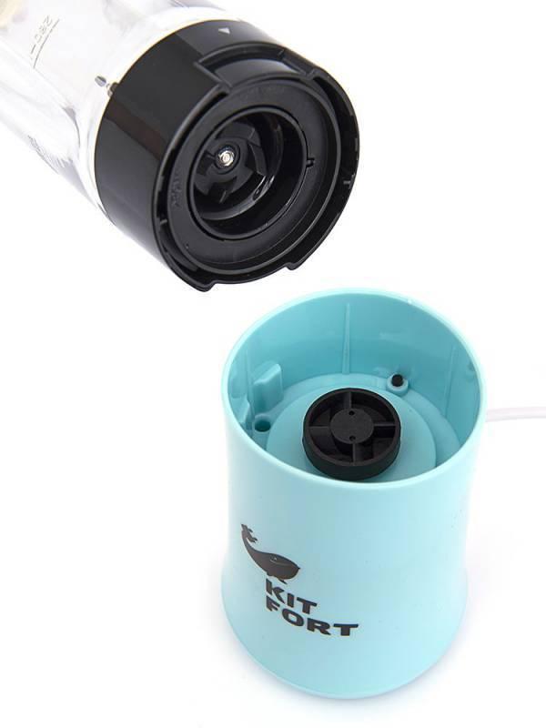 Блендер стационарный Kitfort КТ-1311-2 голубой - фото 4