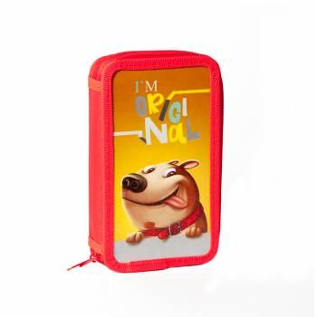 Пенал Silwerhof 850789 Оригинальная собака 2отд. 190х110х45мм ламин.карт.