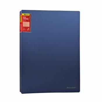 Папка с 20 прозр.вклад. Silwerhof Perlen 291920-74 A4 0.7мм карман синий металлик корешок 18мм