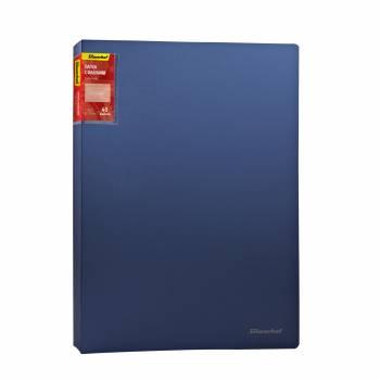 Папка с 40 прозр.вклад. Silwerhof Perlen 291940-74 A4 0.8мм карман синий металлик корешок 22мм