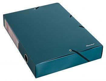 Папка архивная на резинке Silwerhof Perlen 311955-75 зеленый металлик