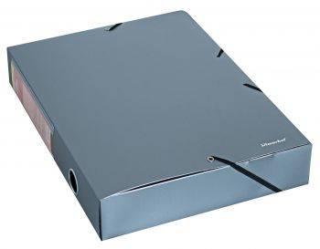 Папка архивная на резинке Silwerhof Perlen 311955-77 серебристый металлик