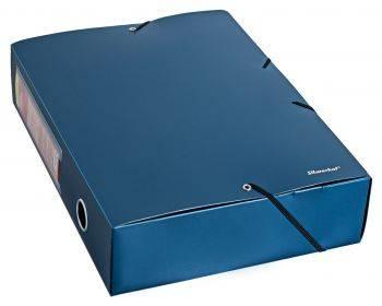 Папка архивная на резинке Silwerhof Perlen 311975-74 синий металлик
