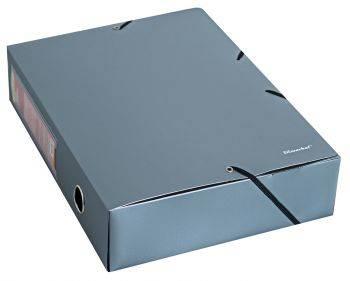 Папка архивная на резинке Silwerhof Perlen 311975-77 серебристый металлик